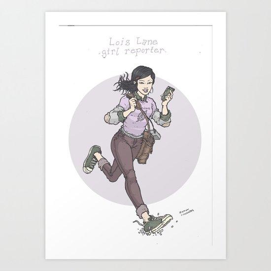 Lois Lane: Girl Reporter Art Print