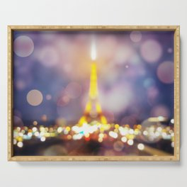 Abstract Eiffel Tower Serving Tray