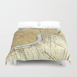 N O map, us maps, office decoration Duvet Cover