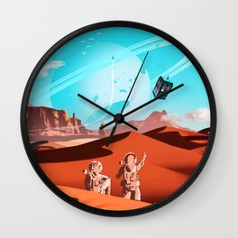 tardis space Wall Clock