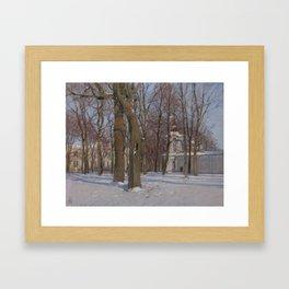 PARK AT WINTER TIME. SAINT PETERSBURG VIEW Framed Art Print