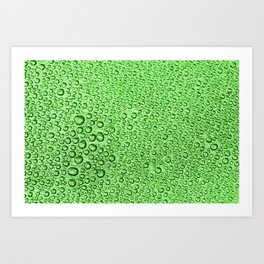 Water Condensation 05 Green Art Print