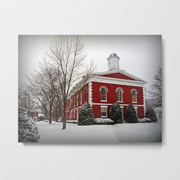 Iron County Courthouse in the Snow Metal Print