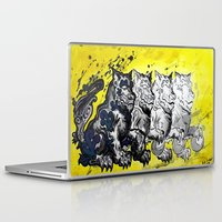 foo fighters Laptop & iPad Skins featuring Unleash the Foo by RISE Arts