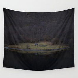 Violet island (Fjord) Wall Tapestry