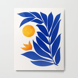 Indigo Garden Sunset Metal Print