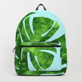 Composition tropical leaves III Backpack