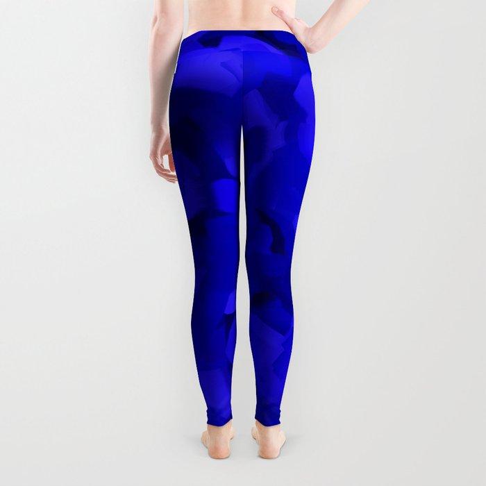 Rich Cobalt Blue Abstract Leggings