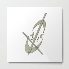 Music Fan Musician Cello Metal Print