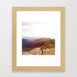 rainbow ridge Framed Art Print