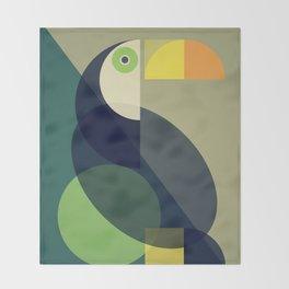 Mid Century Toucan Throw Blanket