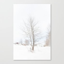Tree // Winter Canvas Print