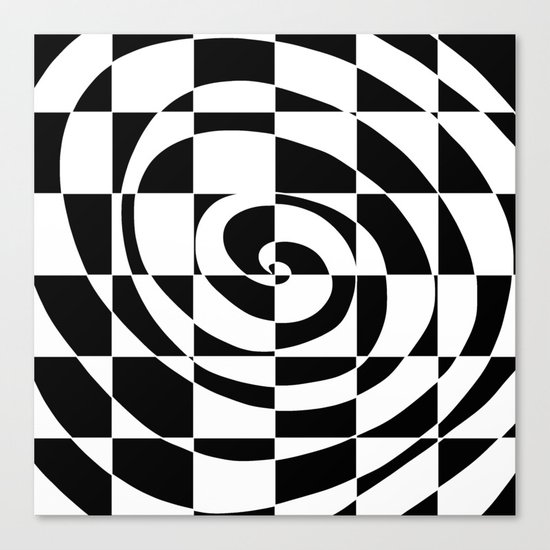 Black And White Swirl Canvas Print