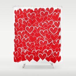 Valentine's background Shower Curtain