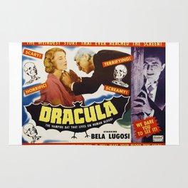 Dracula, Bela Lugosi, vintage horror movie poster Rug
