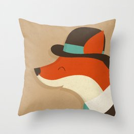 City Fox Throw Pillow