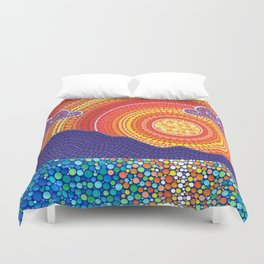 Elegant Sunset over Mountains Duvet Cover