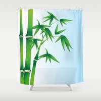 bamboo Shower Curtains featuring Bamboo by Li-Bro