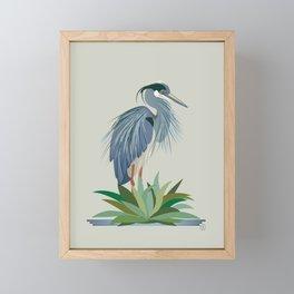 Blue Heron Framed Mini Art Print