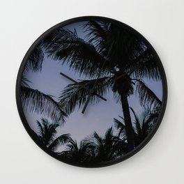 Palmstrees Key West |  Fine Art Travel Photography Wall Clock