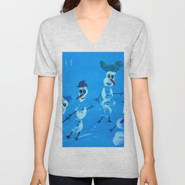 snowmen art150 Unisex V-Neck