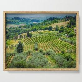 Tuscany Hillside, San Gimignano, Italy Serving Tray