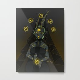Priestess of All Seeing, All Knowing Goddess Metal Print