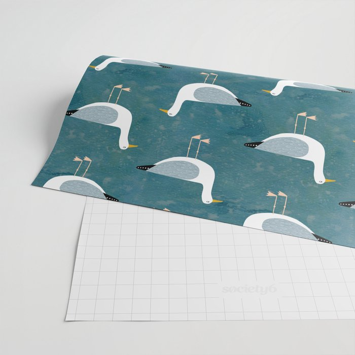 Seagull Standing Wrapping Paper