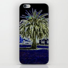 Magic night with Palm tree iPhone Skin