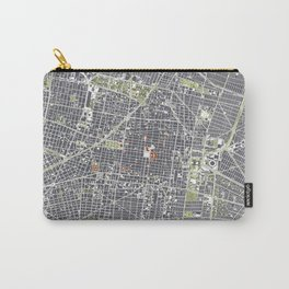Mexico city map engraving Carry-All Pouch