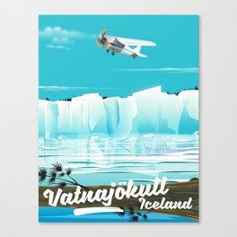 Vatnajökull Iceland Travel poster Canvas Print