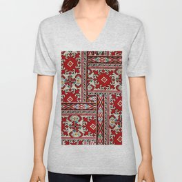 traditional bulgarian embrodeiry _1 Unisex V-Neck