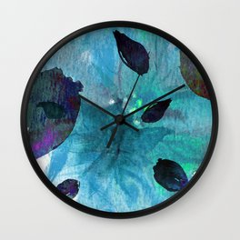 Watercolor Teal Mirage Wall Clock