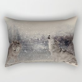 Mountain Wolves Rectangular Pillow