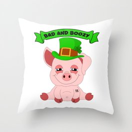 St Patricks Day Paddys Shenanigan Drinking Team Throw Pillow