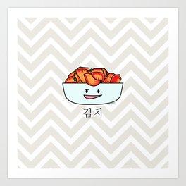 Happy Kimchi Kimchee Bowl Cabbage pickled spicy Korean Art Print
