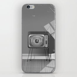 Vintage Black and white cartoon iPhone Skin