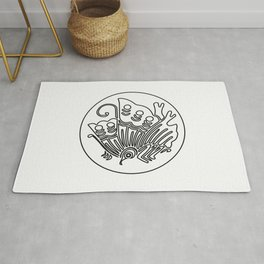 Taira Clan · Black Mon · Outlined Rug
