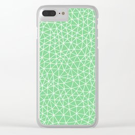Connectivity - White on Mint Green Clear iPhone Case