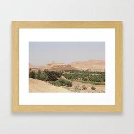 Ait-Ben-Haddou, in Ouarzazate province Framed Art Print