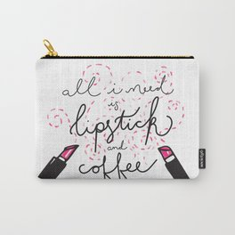 Lipstick and Coffee Carry-All Pouch