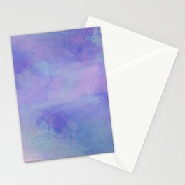 Watercolour Galaxy - Purple Speckled Sky Stationery Cards