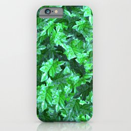 Dew foliage pattern iPhone Case