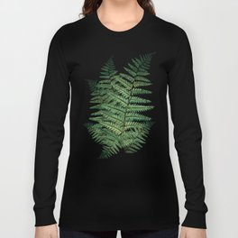 Among the Fern in the Forest Long Sleeve T-shirt