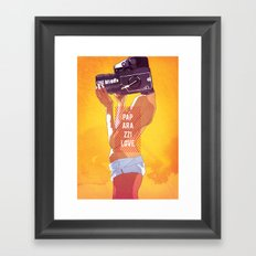 Paparazzi Love Framed Art Print