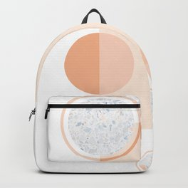 Minimal Abstract Modern Design Terracortta Orange Backpack
