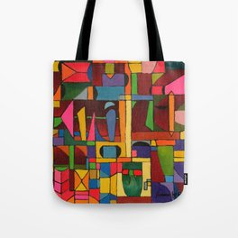 Colors In Collision 1 - Geometric Abstract of Colors that Clash Tote Bag