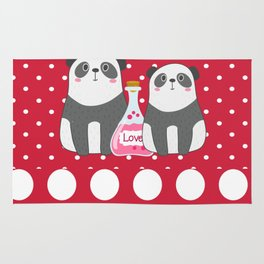 Polka Dot Panda Love Rug