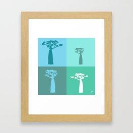 Baobab Azure Framed Art Print