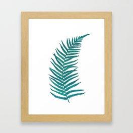 Blue Fern Framed Art Print